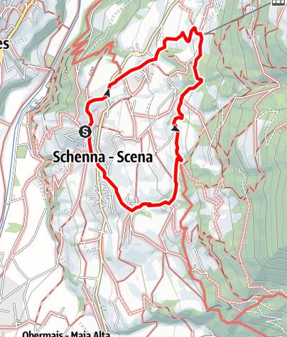 Mappa / Escursione lungo la roggia di Scena - Waalweg