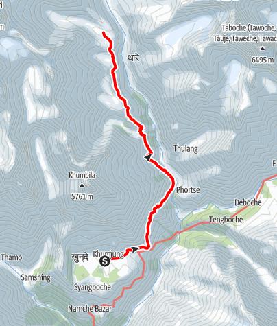 Map / Khumjung - Machhermo, Nepal 5