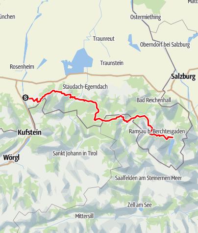 Karte / Alpenüberquerung - Nußdorf bis Königssee