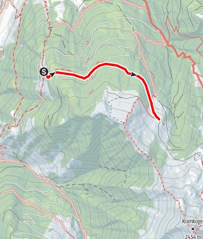 Karte / Rauris: Hirschebenalm - Retteneggalm Nr. 5