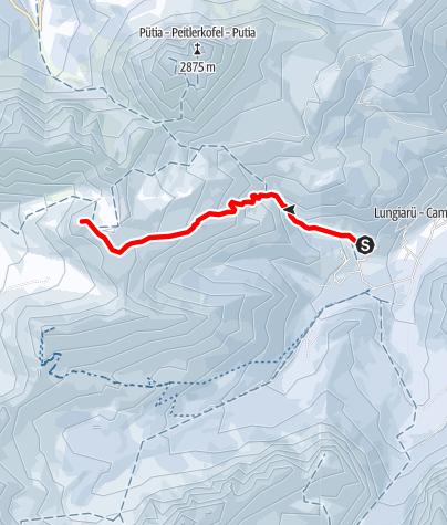 Karte / Skitouren zum Zendleser Kofel