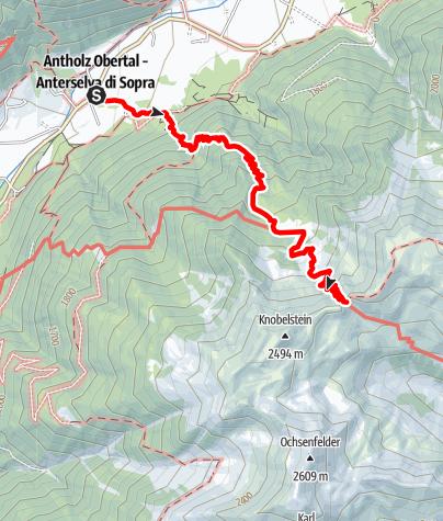 Karte / Wanderung zur Grüblalm und zur Grüblscharte