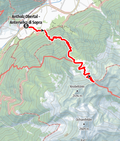 Map / Hiking to the Grüblalm and to the wind gap Grübl