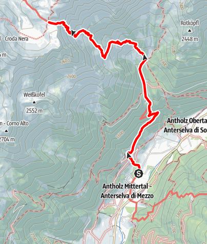 Karte / Wanderung zur Rieserfernerhütte