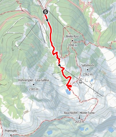 Map / Klaussee: 2162 m
