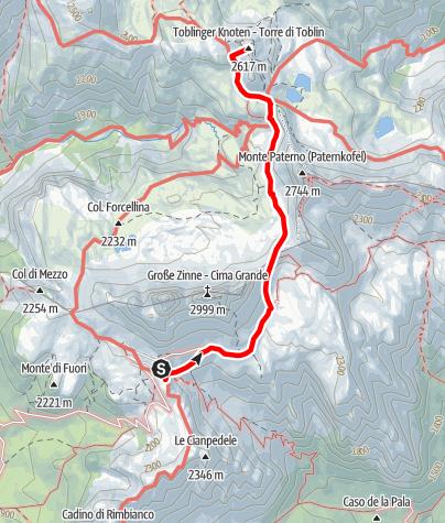 Map / Via Ferrata - Torre di Toblin
