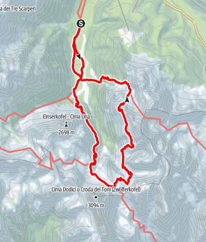 Map / Via ferrata - Alpinisteig Via Ferrata