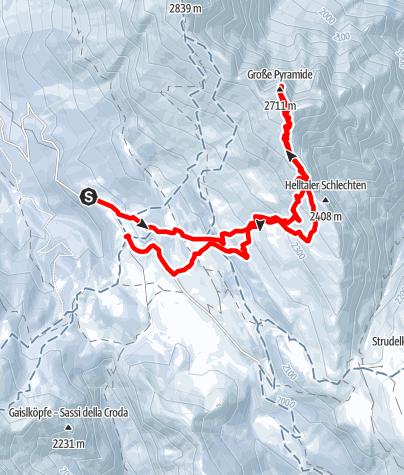 Karte / Skitour Helltaler Schlechten