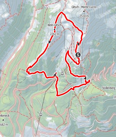 Karte / Almhüttenrundweg Meransen