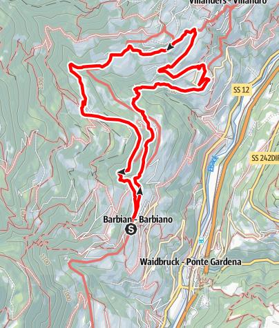 Mappa / Barbiano -San Maurizion (Villandro)-Maso Winterle-Barbiano