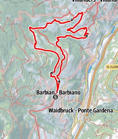 Karte / Barbian-Sauders (Villanders)-Winterlehof -Barbian