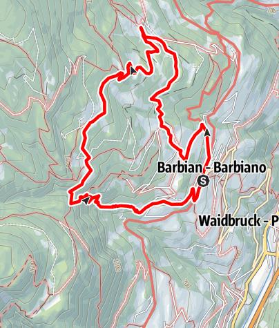 Karte / Barbianer Wasserfälle - Briol und Dreikirchen