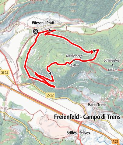 Karte / Über Gschließegg nach Sprechenstein