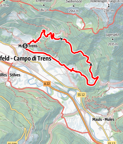 Karte / Über Niederflans nach Partinges