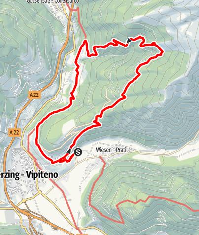Karte / Über die Prantneralm zur Ruine Strassberg