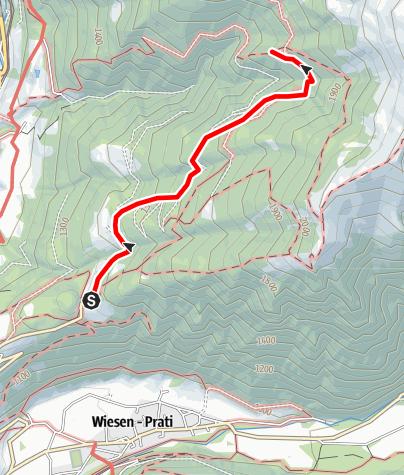 Karte / Winterwanderweg zur Prantneralm
