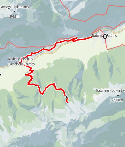 Karte / Zirmtaler Seen bei Naturns