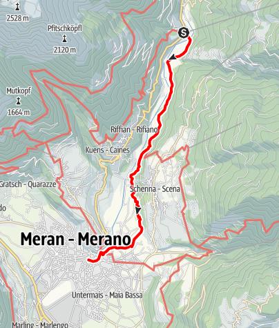 Karte / Wanderung Saltauser Waalweg