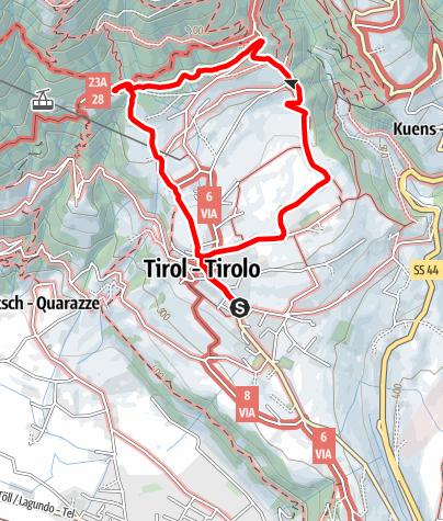 Mappa / Escursione al Farmerkreuz