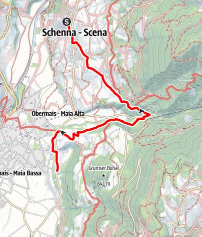 Karte / Von Schenna nach Trauttmansdorff