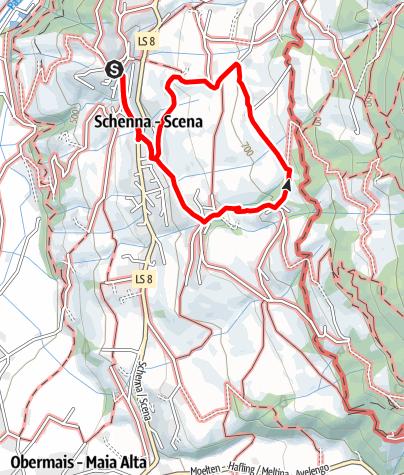 Mappa / Da Scena a San Giorgio e di ritorno a Scena