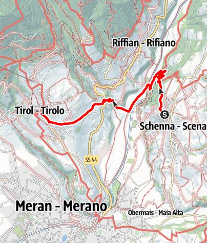 Karte / Von Schenna nach Dorf Tirol