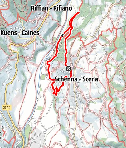 Mappa / Escursione ad anello lungo la roggia di Maia - Waalweg