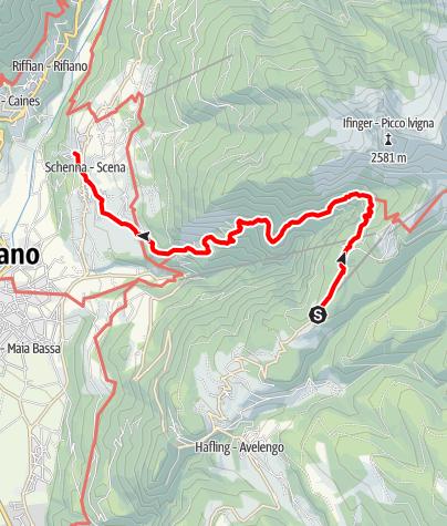 Karte / Von Falzeben über Gsteier nach Schenna