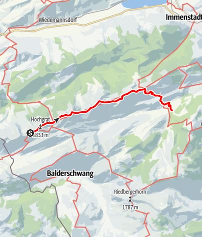 Karte / Über Nagelfluhkette und Hörnergruppe, Teil 2: Nagelfluhkette