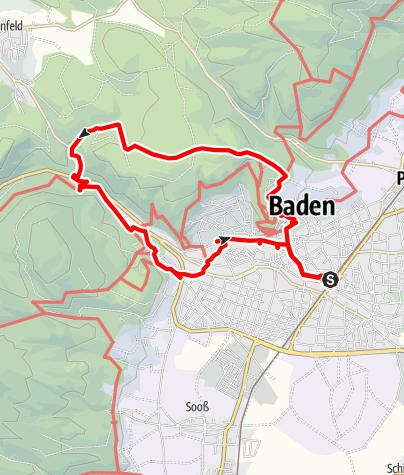 Map / Baden, Rundwanderweg 1. Juni 2020