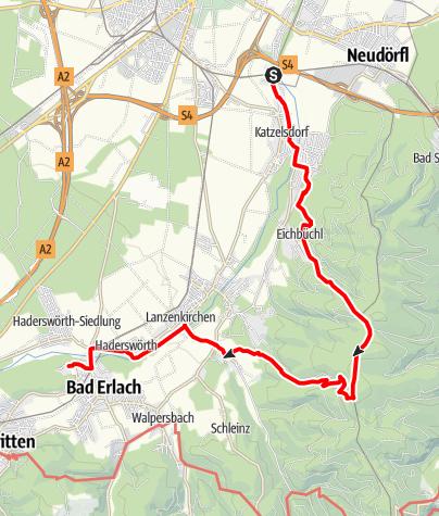 Map / Wanderung zur Therme in Bad Erlach