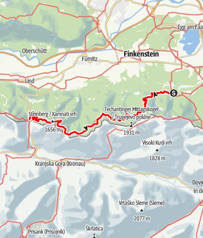 Map / 03 Südalpenweg, E16: Baumgartner - Tschau (Wurzenpass)