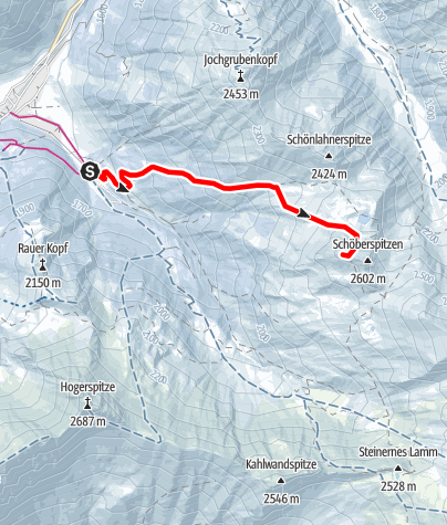 Map / Westliche Schöberspitze (2.580m)