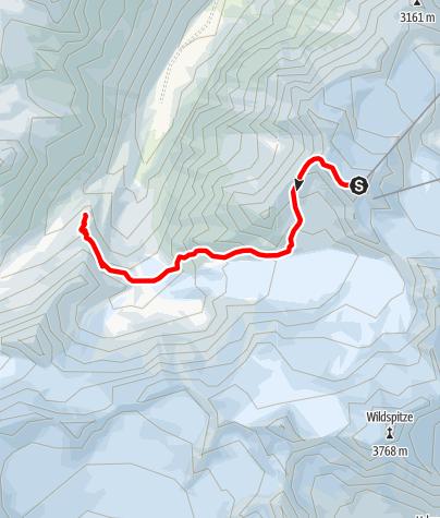Karte / Die Pitztaltour - Variante Zustieg 1. Tag