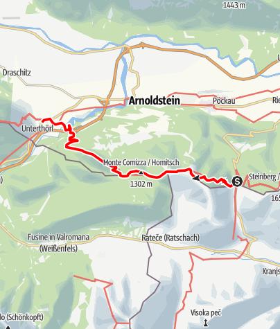 Map / 03 Südalpenweg, E17: Wurzenpass - Thörl-Maglern
