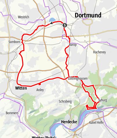 Karte / Durch die Dortmunder Alpen zum Hengsteysee