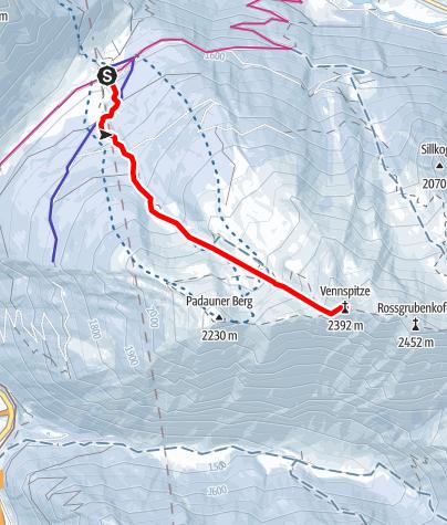 Map / Vennspitze (2.390m)