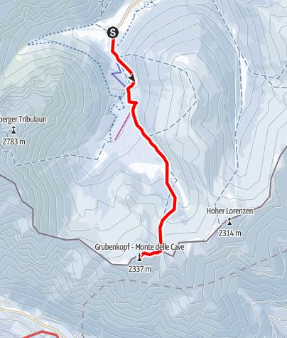Karte / Grubenkopf (2.339m)
