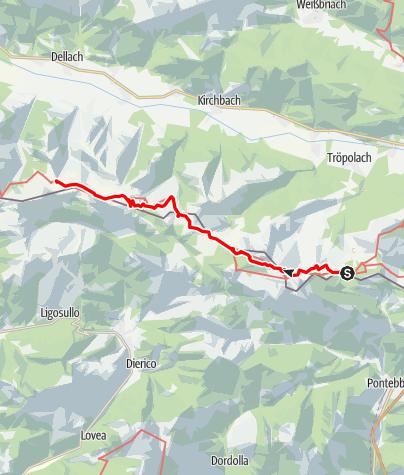 Map / 03 Südalpenweg, E20: Naßfeld -Zollnersee Hütte