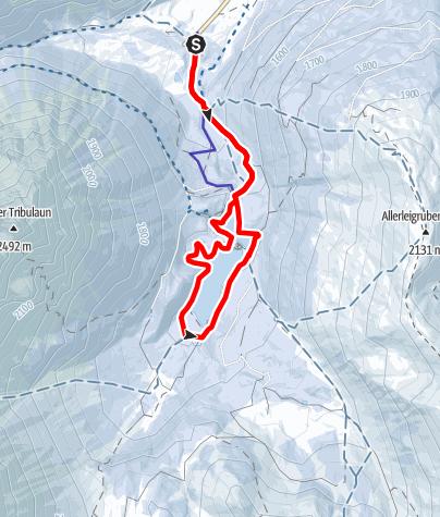 Karte / Rund um den Obernberger See (1.594m)