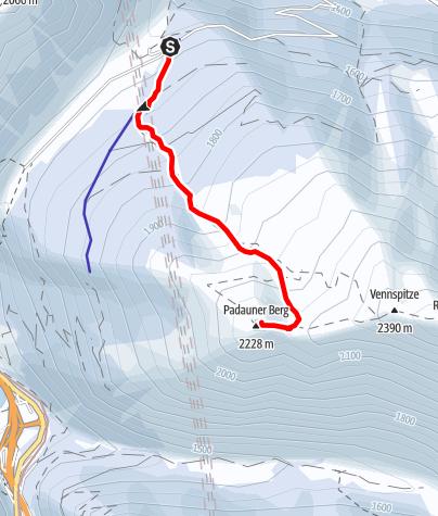 Karte / Padauner Berg (2.230m)