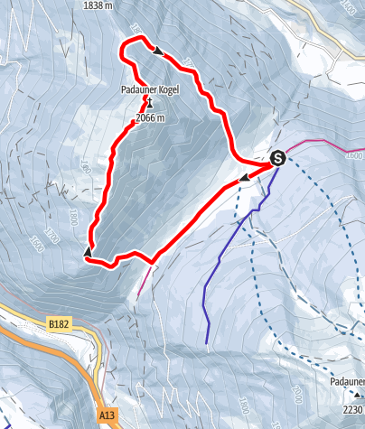 Karte / Padauner Kogel (2.066m)