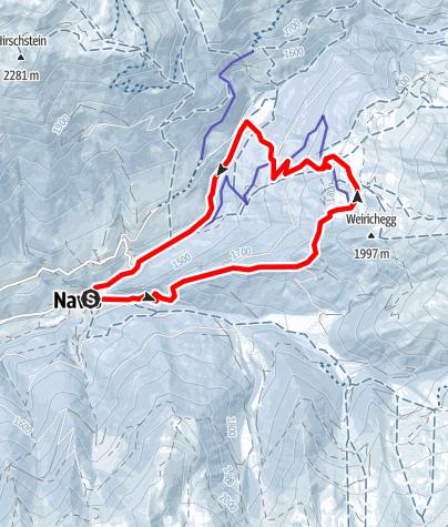 Karte / Gallenschrofen (1.880m) über Naviser Hütte