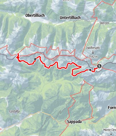 Map / 03 Südalpenweg, E23: Hochweißsteinhaus - Porzehütte