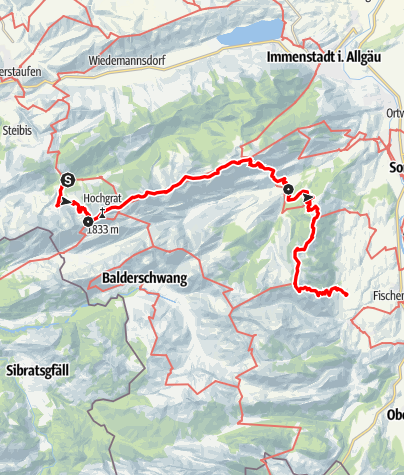 Karte / Über Nagelfluhkette und Hörnergruppe