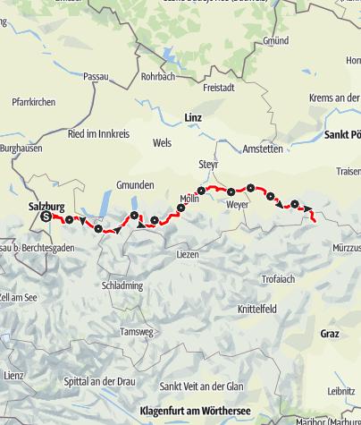 Karte / Weitwanderweg 06 - Salzburger Mariazellerweg