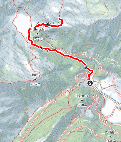 Map / From the end of the Ridnaun valley to the pasture of Aglsalm
