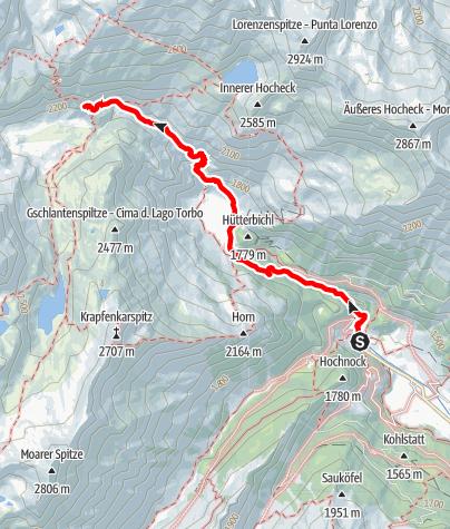 Map / Alpine hut Grohmannhütte