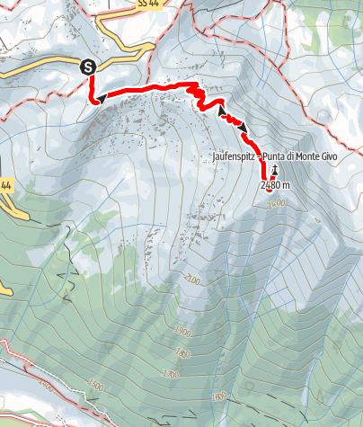 Karte / Jaufenspitze