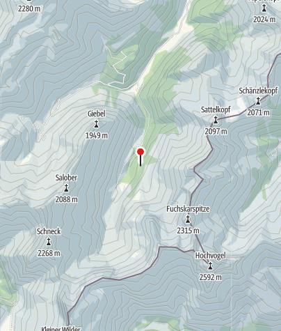 Karte / Untere Bärgündele-Alpe